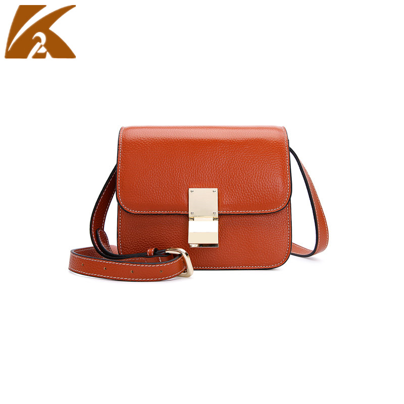 KVKY Fashion Small Shoulder Bag Crossbody Bags for Women Vintage Real Genuine Cow Leather Handbags Messenger Bags Black Brown недорго, оригинальная цена