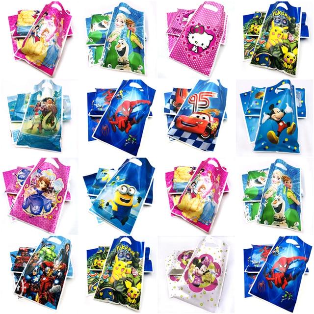 10pcs Set Disney Gift Bag Loot Lightning Mcqueen Frozen Elsa And Anna Sofia Minnie