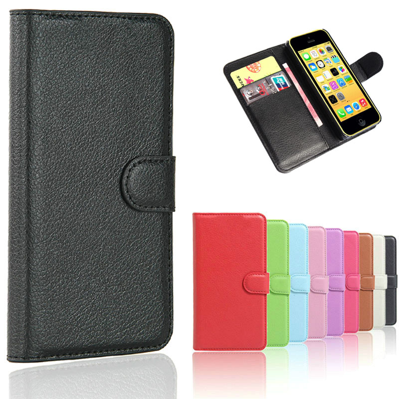 5g Responsible Rich Leather Wallet Magnetic Flip Phone Case Cover For Apple Iphone 5s Se