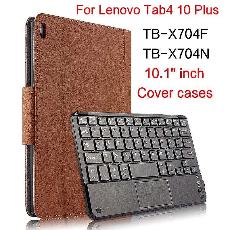 Cas Pour Lenovo Tab 4 plus TB-X704F X704N 10.1 Housses De Protection Bluetooth clavier Protéger En Cuir Tab4 10 Plus Tablet PU Cas