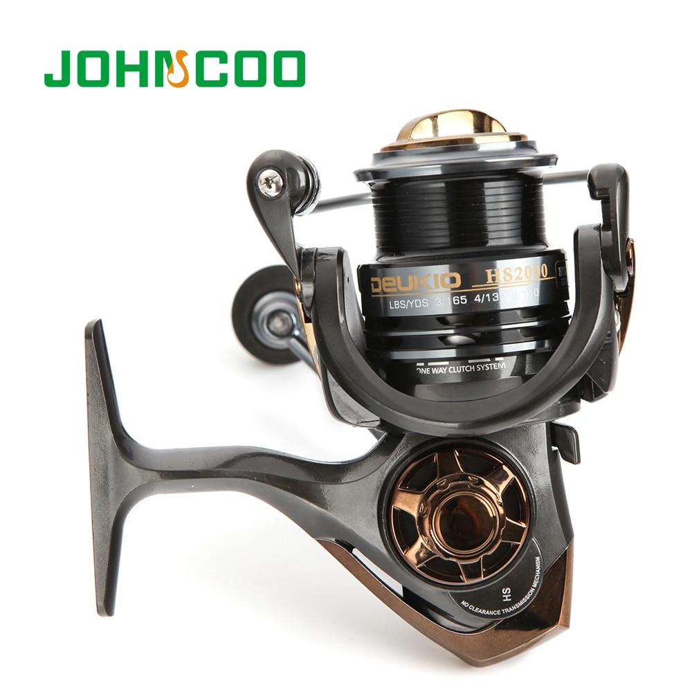 JOHNCOO High Speed Fishing Reel HS2000/3000 Spinning Fishing Reel Max Drag 6.0-6.5kg CNC Aluminum Spool Carp Fishing Tackle