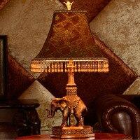 Exquisite Design Lighting Retro Bedroom Bedside Lamp Living Room Lighting Auspicious Thai Retro Table Lamp