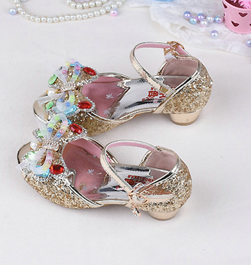 2018 Letnie dziecięce dziecięce dziewczyny Motylowe sandały - Obuwie dziecięce - Zdjęcie 1