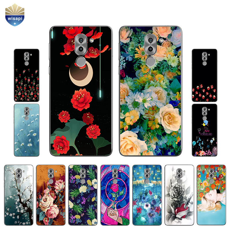 DIY For Huawei Honor 6  6X 6A Phone Case For Huawei Honor 6 Plus Shell 0.6mm Soft TPU For Honor 8 Coque Beauty Flowers Painted