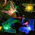 Mariposa Impermeable Al Aire Libre de Vacaciones de Cuerda 5 m 10 luces 220 V LED solar jardín luces de la secuencia para la Navidad del Jardín Decoración
