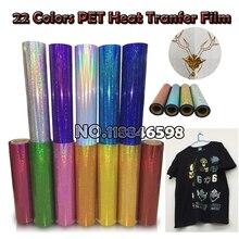 Железный передача питомца Лазерная пленка с теплопроводным эффектом 50 см x 100 см/лот для хлопок или текстильных Материал рубашка