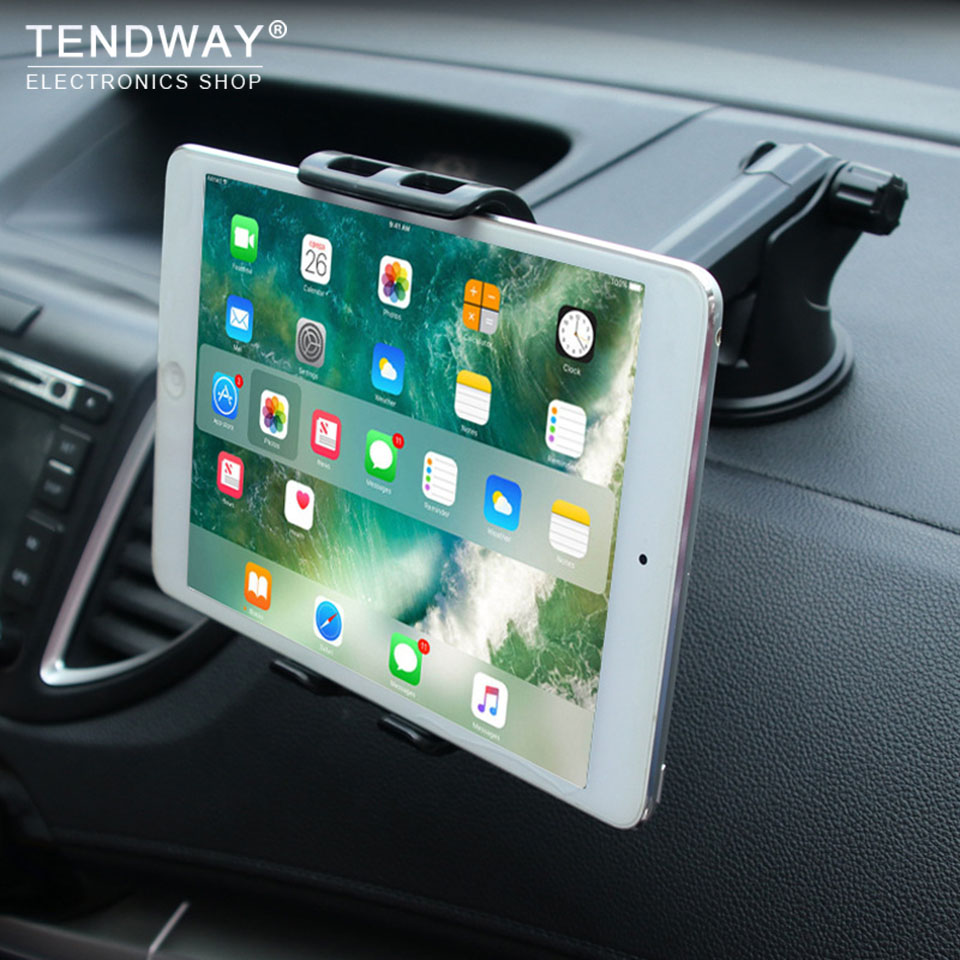 Tendway Car Tablet Stand Dashboard 360 Degree Tablet Holder for Ipad 1/2/3/4 pro mini Samsung Adjustable Tablet Car Holder Mount universal 360 degree rotatable car swivel mount holder for ipad mini black white