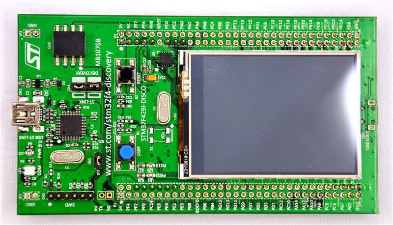 US $45 89 |Original STM32F429I DISCO Embeded ST LINK/V2 STM32 Touch Screen  Evaluation Development Board STM32F4 Discovery Kit STM32F429-in Demo Board