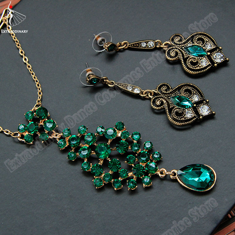 Belly Dance Indian Jewelry Fashion Bellydance Headdress Earrings Bollywood Accessories Women Professional Earring Rhinestone