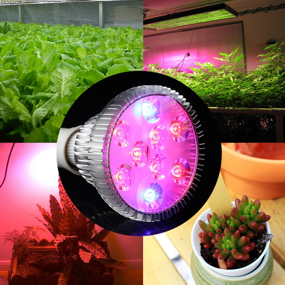 2017 hot sale E27 9W Garden Indoor Hydroponic Flower Lamp Bulb Par30 Plant Light Greenhouse Seedling plants grow lights lamp ...