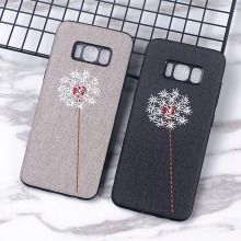 For Samsung Galaxy S8 Plus S8+ Case Handmade Embroidery 3D Flower Dandelion Cases for S 8 Cover