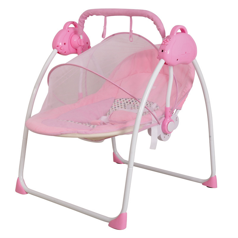 Portable Electric Baby Swing Chair Bouncer Music Rocking For Baby Safe Newborn Baby Sleeping Basket baby rocker newborn baby swing portable carrier rocking chair baby bouncer toddler sleeping seat rocking swing chair cradle