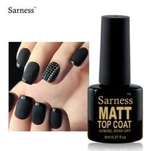 Sarness UV Gel Lacquer TOP COAT 8ML Matte Top Coat Nail Art Soak Off UV Matte Foundation Gel Polish Nails Primer Varnish