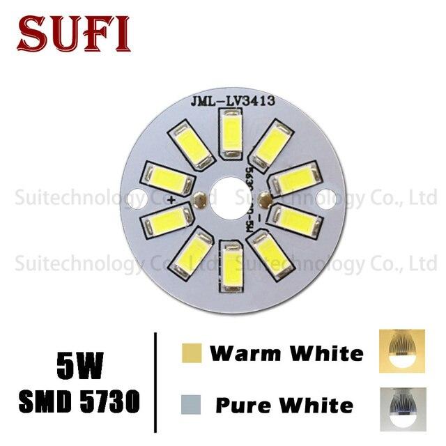 5 wát SMD Ban Ánh Sáng Đèn Led Bảng Điều Chỉnh LED Bóng Đèn SMD5730 Cho Trần PCB Với LED, nhôm tấm cơ sở Cho DIY Đèn LED miễn phí vận chuyển