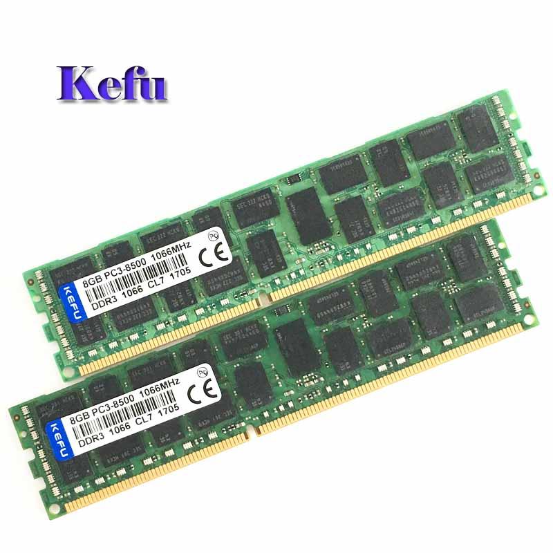 цена на 2X8GB PC3-8500R DDR3 1066mhz ECC Memory REG Registered 240-pin RAM 2RX4 server memory