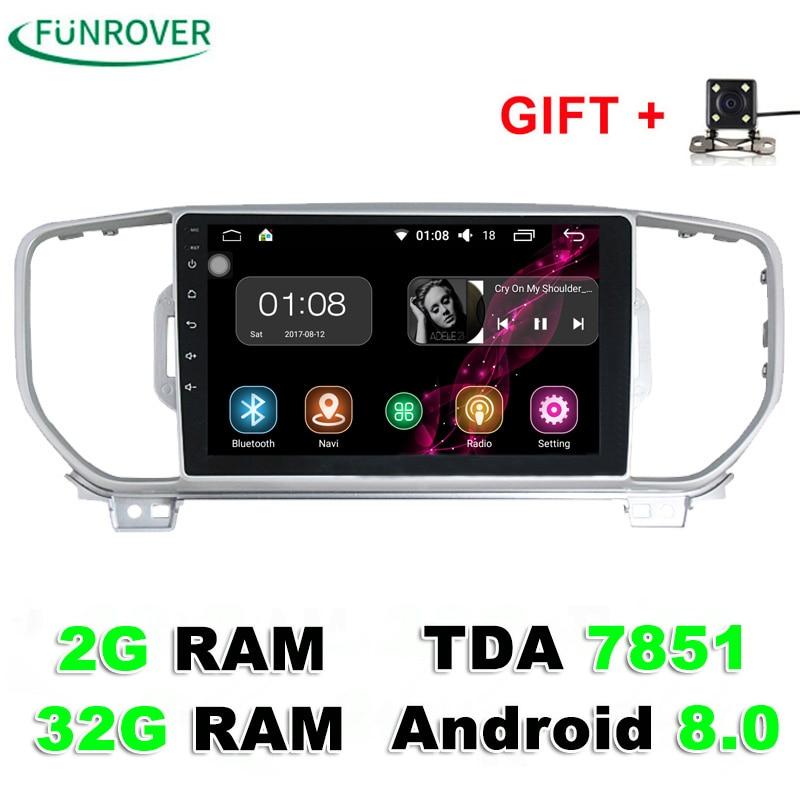 Funrover 9 Zoll Auto-dvd-Spieler Für KIA Sportage 2016 2017 Kx5 2G + 32G navigation auto radio stereo headunit auto multimedia player