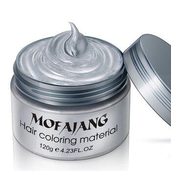 7 kolory jeden pasta do formowania do włosów do włosów w stylu kolor babcia szary błoto japonia wosk kolorowy jeden-tTme do włosów barwniki Hot