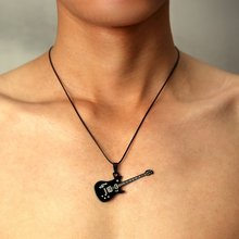 316L Stainless Steel Guitar Necklace