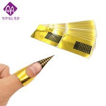 100Pcs/lot Professional Nail Form Acrylic Curve Nails Gel Nail Extension Nail Art Guide Form