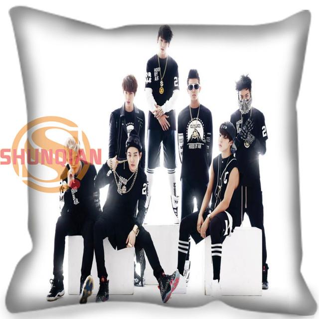 Custom Decorative Pillowcase BTS  Bangtan Boys Square Zippered Pillow Cover Best Nice gift 20X20cm,35X35cm(one side)