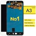 5 pcs alibaba china display lcd touch screen digitador assembléia para samsung galaxy a3 a300 azul branco substituição