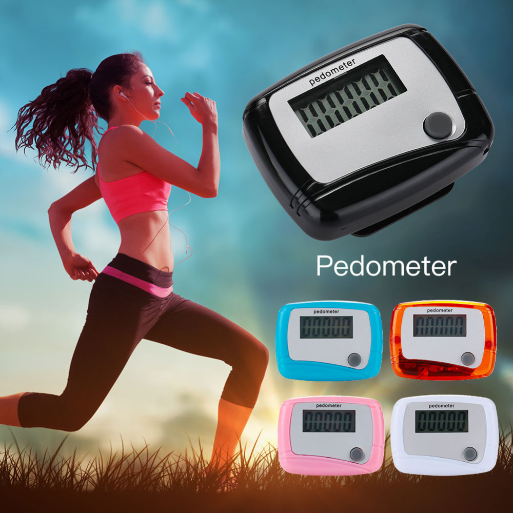 Pedometer Step Counter Simple ABS Single Button Digital LCD  Bracelet Sport Watch Runn Step Walking Distance Electronic Portable