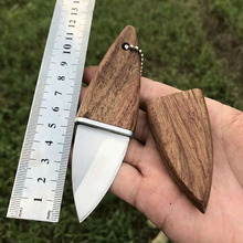 45g Portable Pocket Knife 5cr15mov Olive Knives Outdoor Sport Self-defense Survival Cutting Tool Fixed Blade Letter Opener Gift