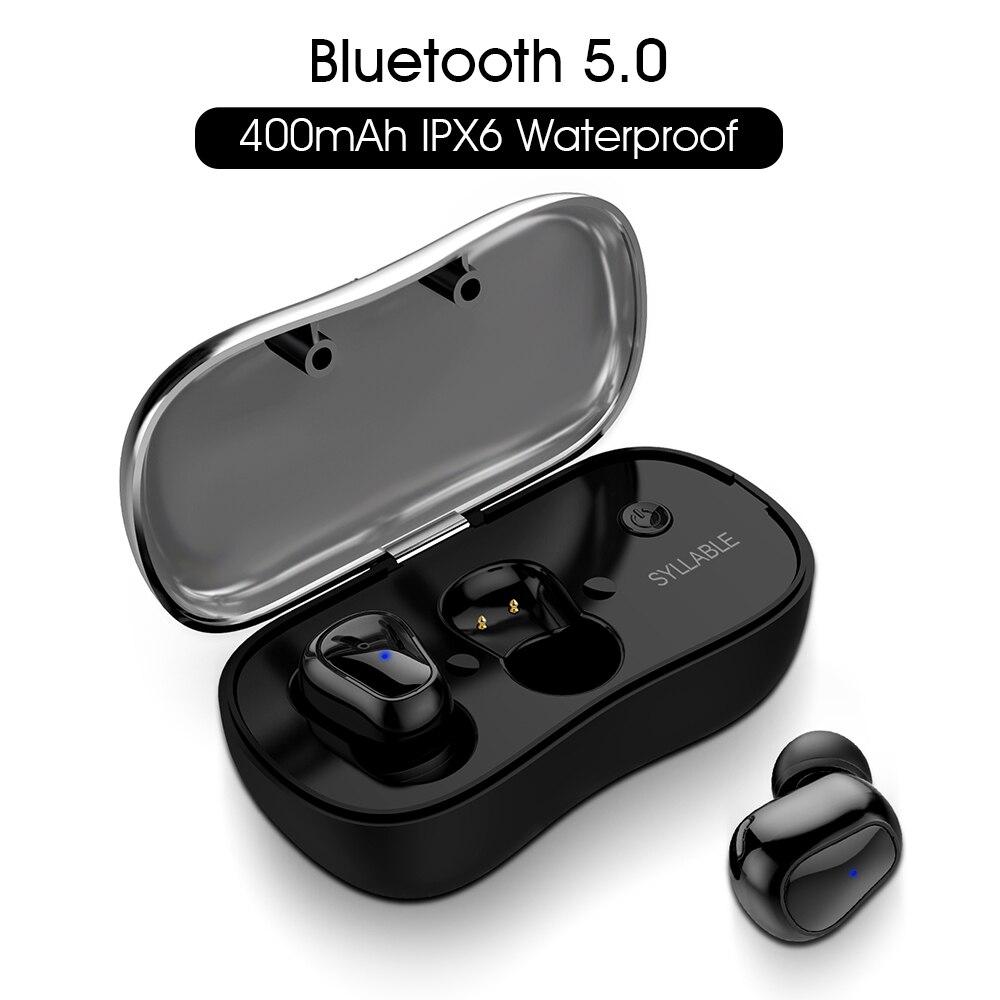2019 Nuovo SILLABA D900P Bluetooth V5.0 TWS Auricolare Vero Stereo Senza Fili Auricolari Impermeabile SILLABA Auricolare Bluetooth per il Telefono