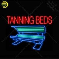 Barato Letrero de neón para camas de bronceado máquina bombilla de neón muestra de negocios Iconic lámpara