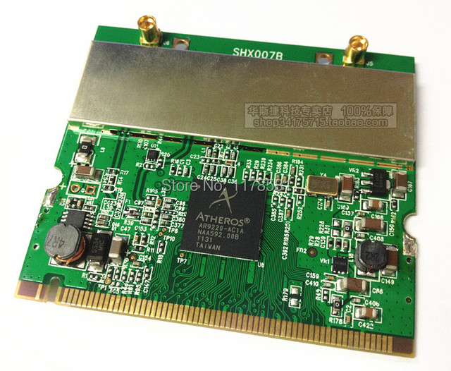 new Free Shipping atheros ar9220 300m Mini PCI Module 2T2R 802 11a/b/g/n in  5GHz bands 300Mbps 2x2 MIMO-in Industrial Computer & Accessories from