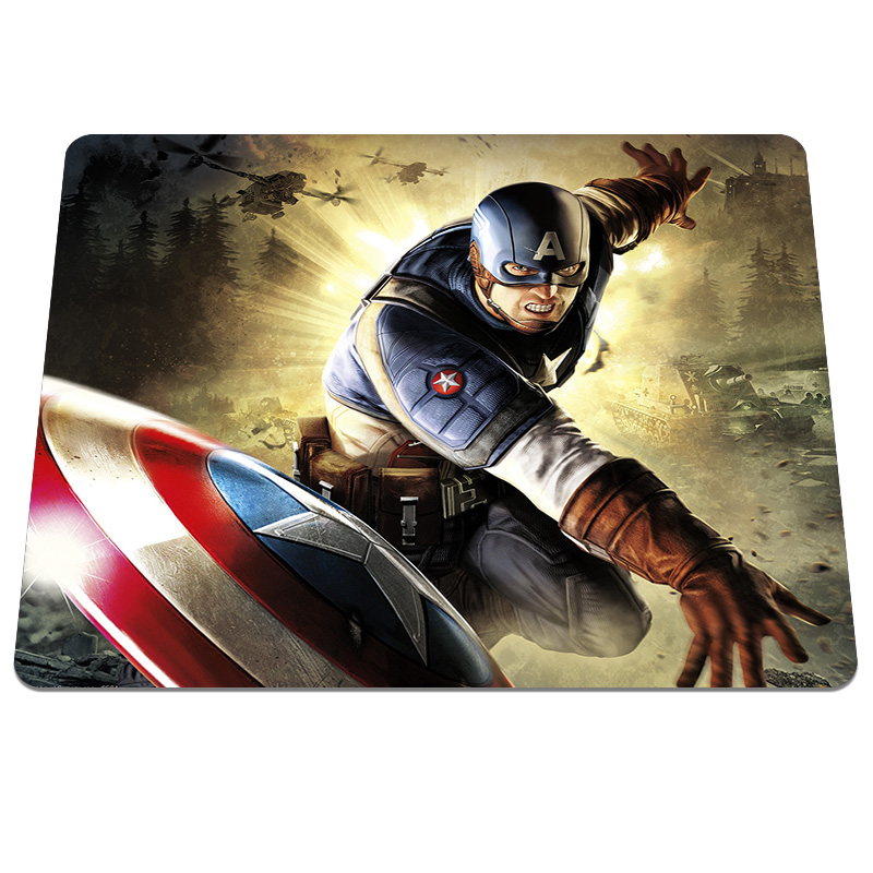 Direct selling Captain America Super Soldier Background DIY Custom made Soft Silicone Optical Computer Mouse Mat Gaming Pads ...