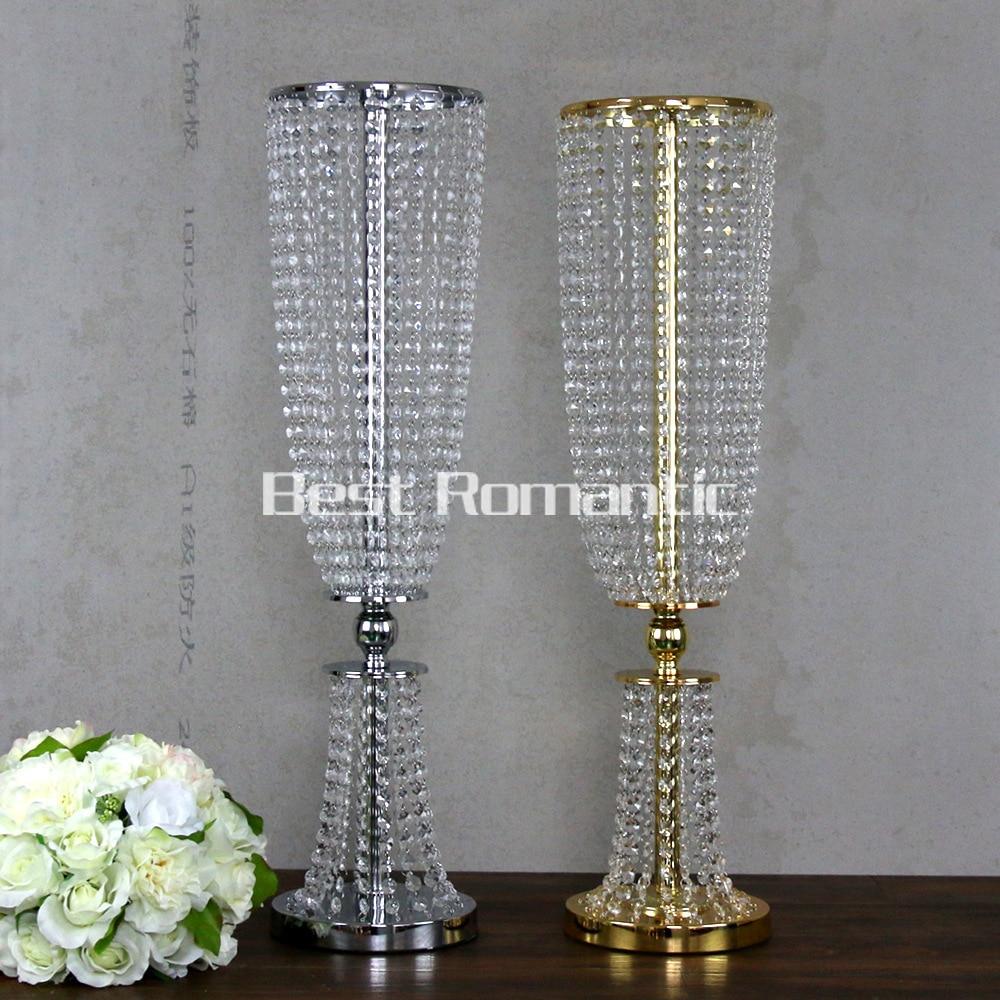100CM Tall10pcs Flower Design Metal Wedding Centerpiece