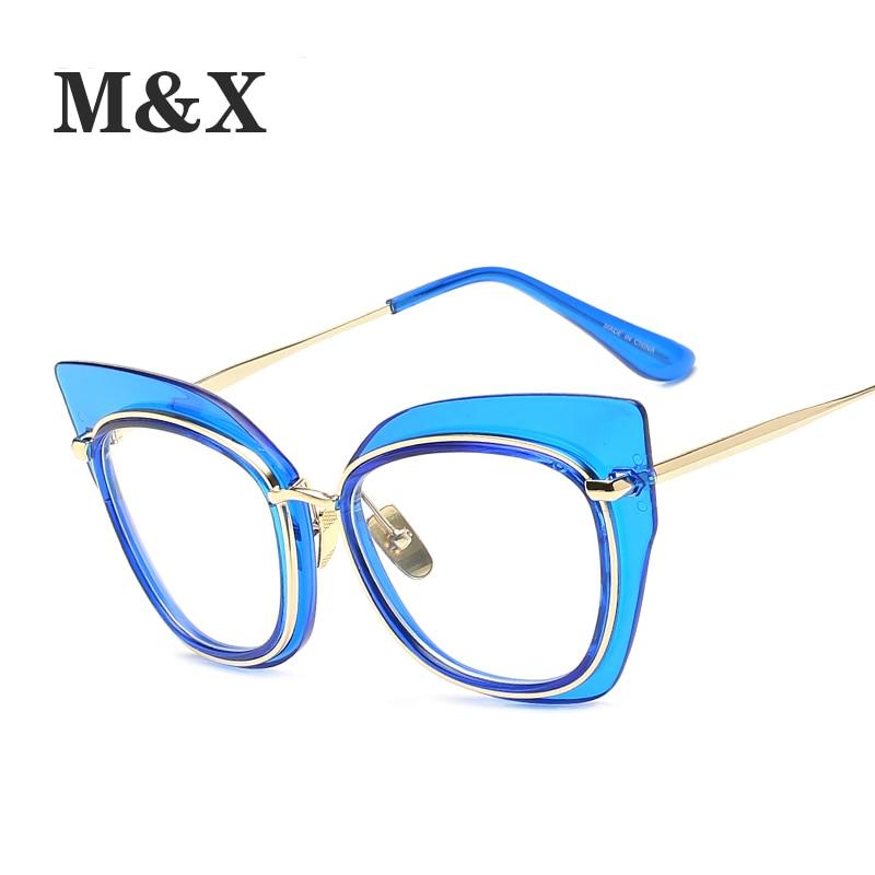 d7cf00216a2 M X Sexy black cat eye glasses frames for women ladies Big clear glasses  women optical frame brand luxury metal 97156-in Eyewear Frames from Apparel  ...