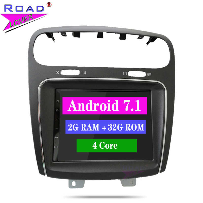 Puente 2 Din Car Radio Android 7,1 coche DVD Autoradio Player navegación GPS para Fiat salto Freemont Dodge Journey estéreo