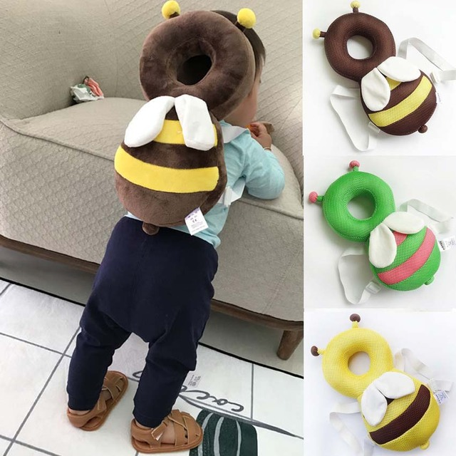 Baby Head Protection Pad Cute Cartoon Cotton Pillow Anti Crash Toddler Care Headrest Infant Walk Protection Baby Fall Prevent