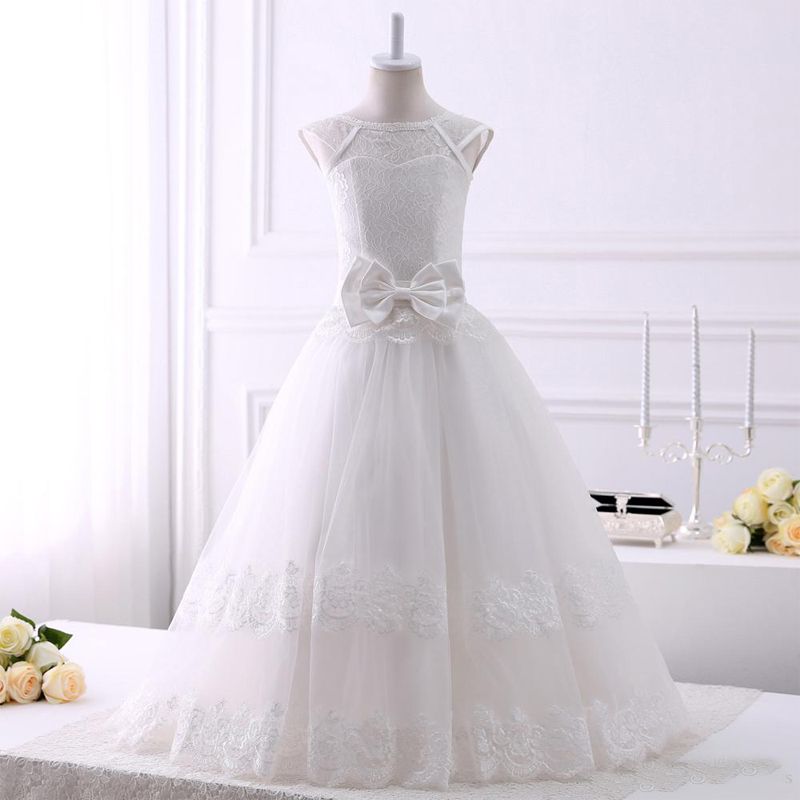Flower Girls Dresses for Weddings Ball Gowns Tulle Lace Mother Daughter Dresses Spring Pretty Dress Graduation Birthday With Bow 3 years guarantee solar irrigation pump submersible solar pumps