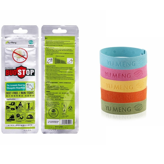 5pcs Non Toxic Mosquito Repellent Bracelet Deet Waterproof Spiral Wrist Band Outdoor Indoor Insect Protection