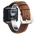 V-MORO Genuine Leather Band For Fitbit Blaze Watch Band Replacement Strap for Fitbit Blaze Accessory Band Brown Black