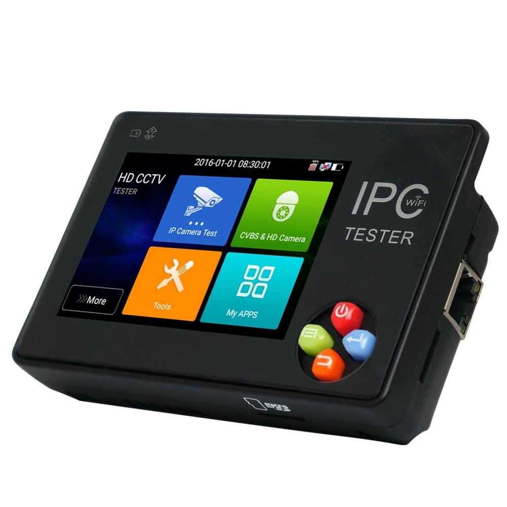 купить 3.5 Inch H.265 4K IP CCTV Tester Monitor IP CVBS Camera Tester ONVIF PTZ WIFI 12V1A Output онлайн