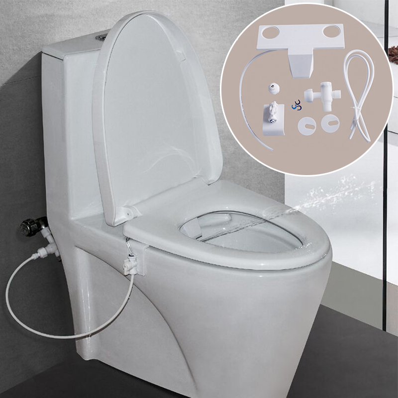 Bathroom Toilet Flushing Device Water Spray Seat Practical Toilet Sprayer Nozzle Attachment Hand Operation Bidet Part