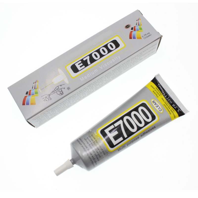 50ml Super E7000 Waterproof Liquid Glue Metal Leather Adhesive School Bts Scrapbooking Bond Epoxy Resin Wood Fabric Rhinestone