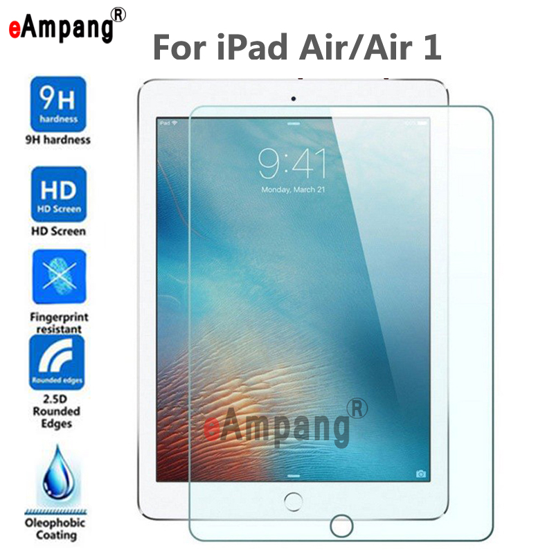 Transparent Screen Protector Tempered Glass For Apple IPad 5 Air 1 Air1 A1474 A1475 Tablet Scratchproof Screen Protective Film
