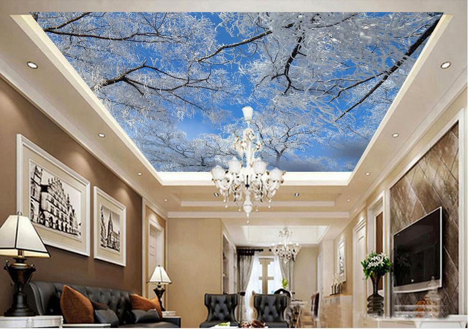 Snow winter wallpaper reviews online shopping snow for 3d ceiling wallpaper