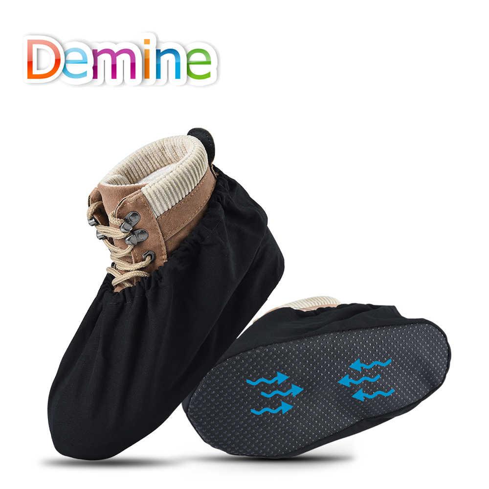 Demine Stofdicht Schoenen Covers Waterdicht Wasbaar Herbruikbare Platte Enkel Elastische Boot Cover Mannen Vrouwen Indoor Overschoenen Accessoires