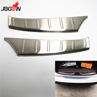For Subaru Forester 2013 2018 Interior Rear Bumper Protector Sill Plate Cover Trunk Guard Trim Stainless Steel 2pcs
