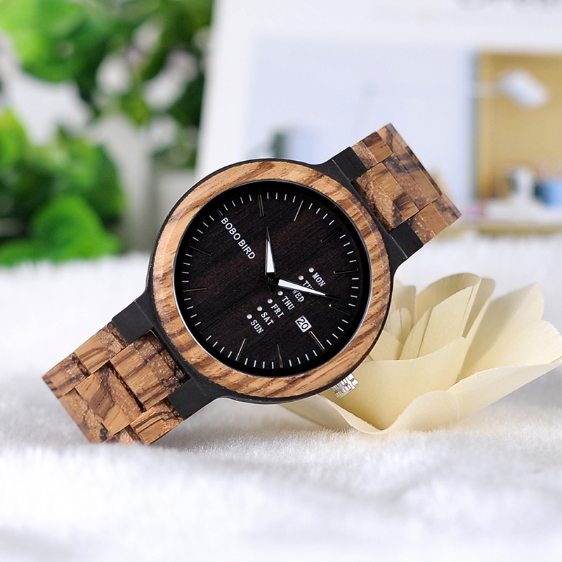 Zegarek drewniany Bobo Bird Data Dark O26-2 8