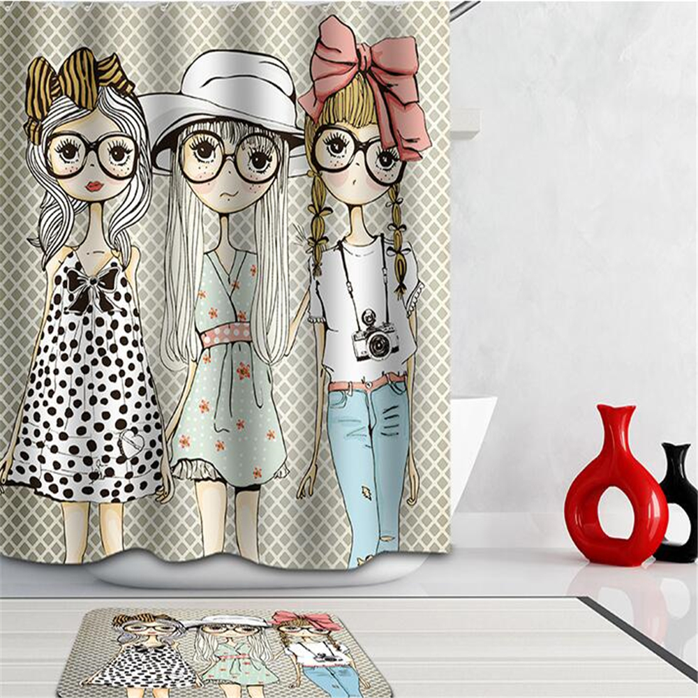 Popular Girls Shower Curtains For Bathroom Buy Cheap Girls Shower