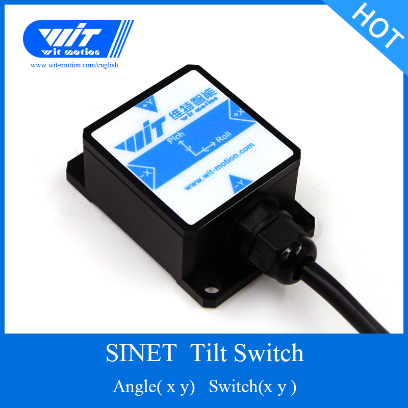 Witmotion Sinet 2-axis Digital Tilt Angle Inclinometer & Electronic Level (0/3.3v ) Output Sensor Ip67 Waterproof Anti-vibration