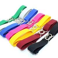 Children's belt boys and girls elastic stretch pants belt kindergarten solid color 8 words chain belt gg belt