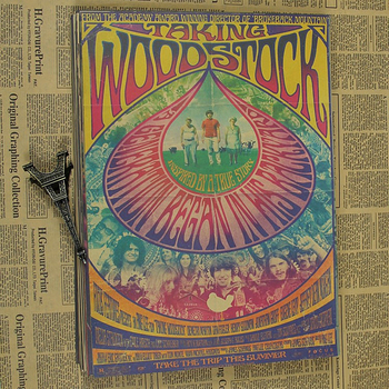 Woodstock rock music festival/retro craft paper decorative painting posters classic poster vintage paper craft vintage chinese printed dance craft umbrella theme party decorative oiled paper parasol